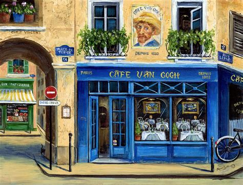Cheap Stores For Home Decor by Cafe Van Gogh Ii Painting By Marilyn Dunlap