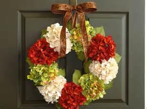Fall Front Door Wreaths Fall Wreaths Fall Wreath Hydrangea Front Door Wreath By Aniamelisa