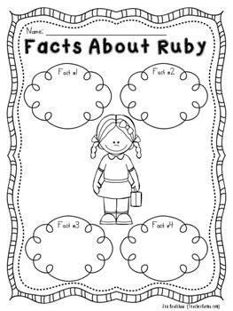 Ruby Bridges Worksheets by Freebie Ruby Bridges No Prep Printables Black History