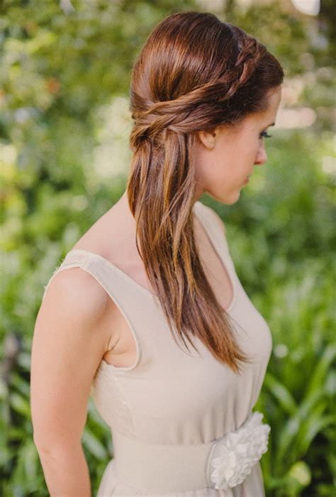 wedding hairstyles down and straight straight half up wedding hair with braid wedding