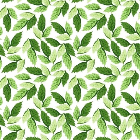 seamless pattern leaves seamless leaf pattern vector background free vector in