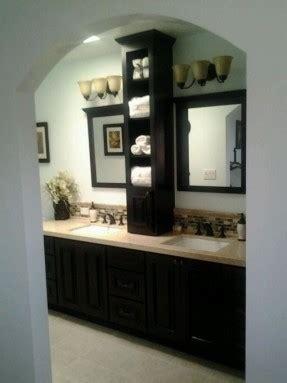 vanity bathroom storage tower foter at countertop cabinet