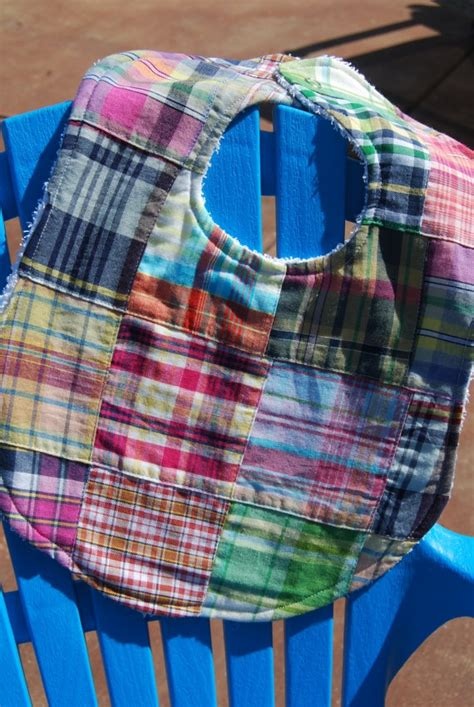 Plaid Patchwork Quilts - quilt patchwork plaid unisex baby bib