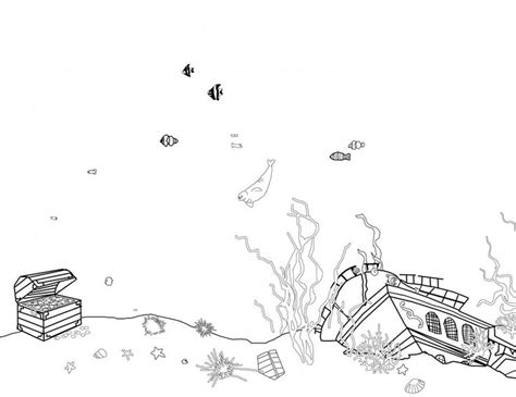 titanic underwater coloring pages shipwreck coloring pages