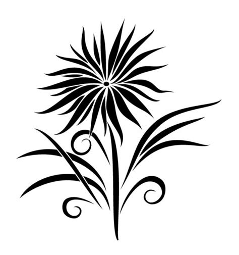tribal flower tatoo vector free download