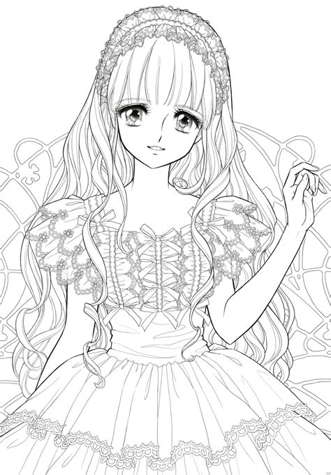 japanese princess coloring pages ぬりえ