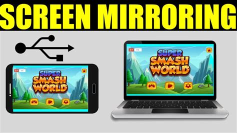android screen mirroring to pc how to mirror your android screen phone to pc via usb no root to the point