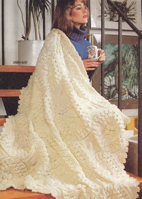 Afghan Patterns Knitting And Crochet Vintage Bernat