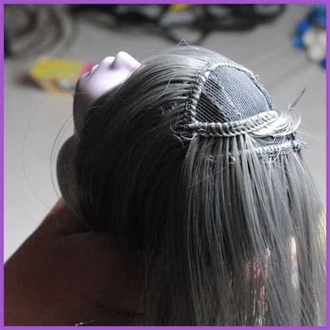 tutorial wig bjd bjd wig tutorial прически pinterest dolls wigs and bjd