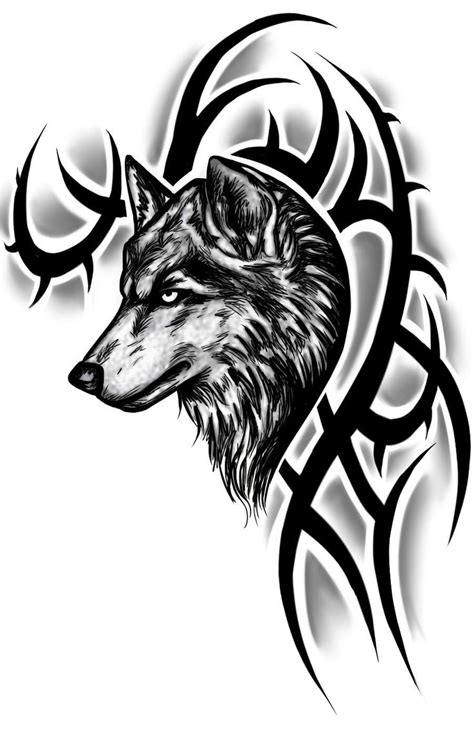 tribal wolf head tattoo designs 49 wolf designs and ideas