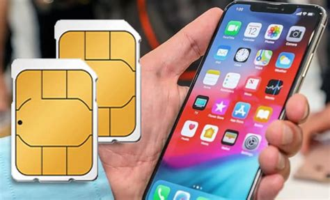 how to use two nano sim cards on iphone xs max