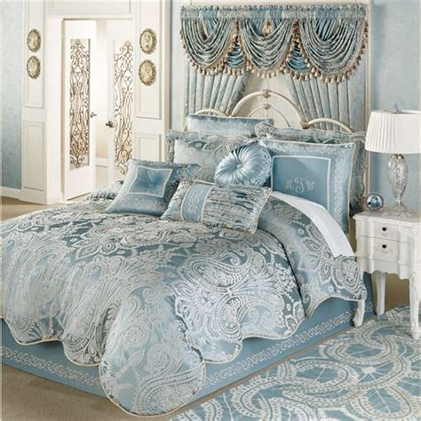 Paris Bedroom Decorating Ideas regency parisian blue comforter bedding
