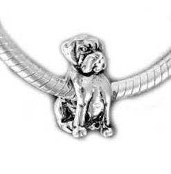 Mastiff bull dog quot bead sterling charm fits pandora amp similar bracelets