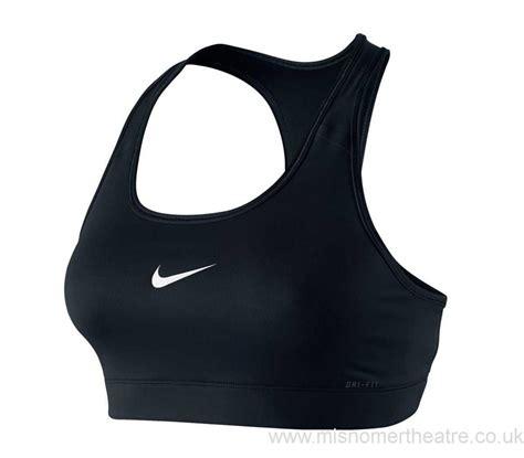 shop nike pro bra black logo womens clothing