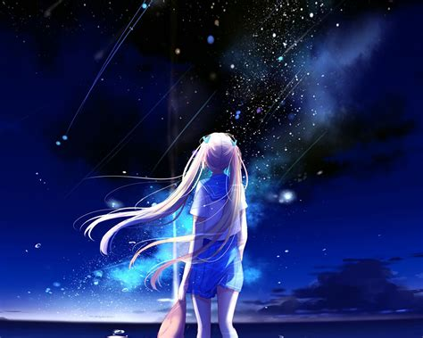 bc anime night space star art illustration wallpaper