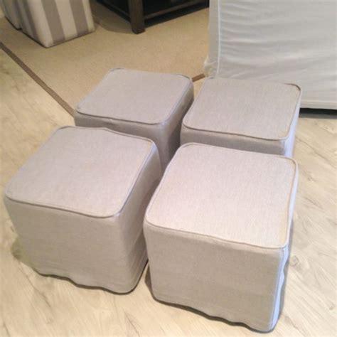 cube ottoman slipcover ottoman custom slipcovers