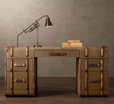 Vintage Desk Ideas Refined Vintage Furniture Items Made Out Of Trunks Freshome