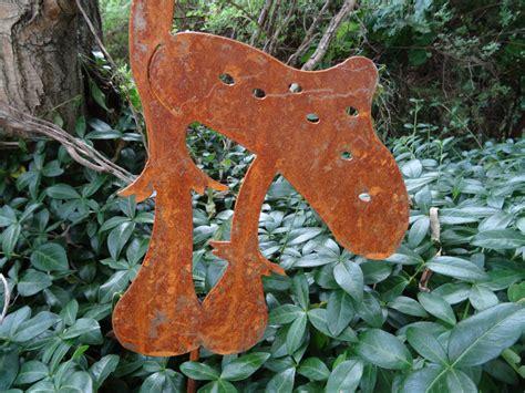 Gartendeko Pilze by Gartenstecker 2 Pilze Aus Metall Rost Gartendeko Pilz