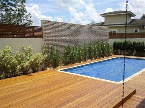 quintal piscina decorada piscinas de fibra 50 fotos que v 227 o conquistar o seu cora 231 227 o