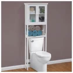Over the toilet bathroom storage cabinet shelves rack white