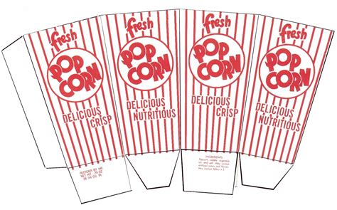 popcorn box template images
