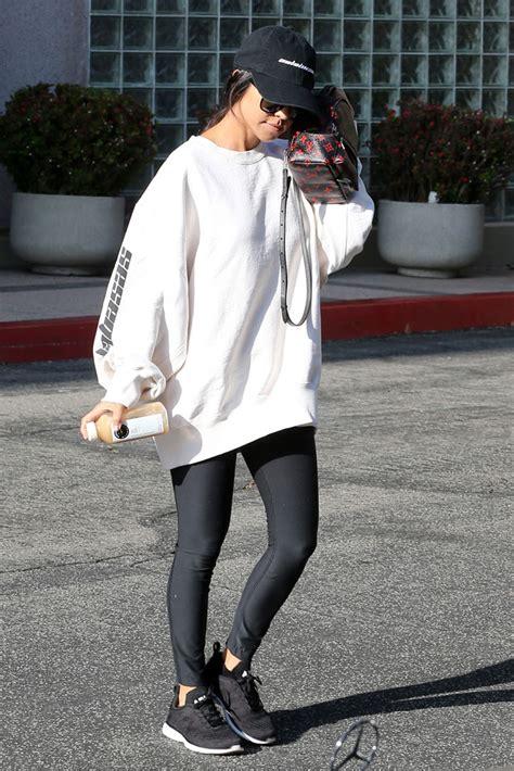 kourtney wearing adidas calabasas and apl sneakers photos footwear news