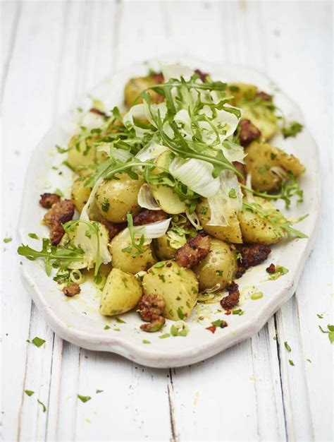 Crispy Salad Potato s crispy sausage potato salad recipe woolworths