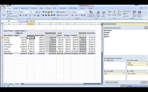 Excel Online Tutorial Youtube | microsoft excel pivot table tutorial for beginners 2015