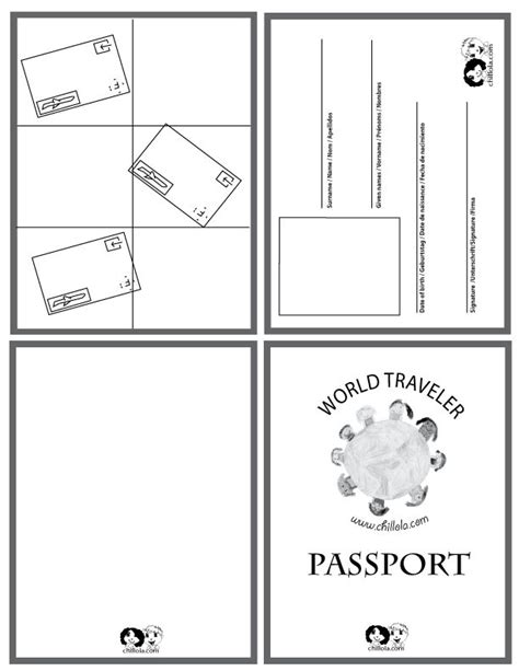 25 best ideas about passport template on pinterest