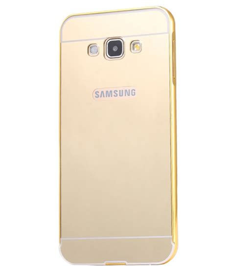 Samsung Clear Cover Galaxy A7 2016 Original samsung galaxy a7 2016 cover by kosher traders golden plain back covers at low prices