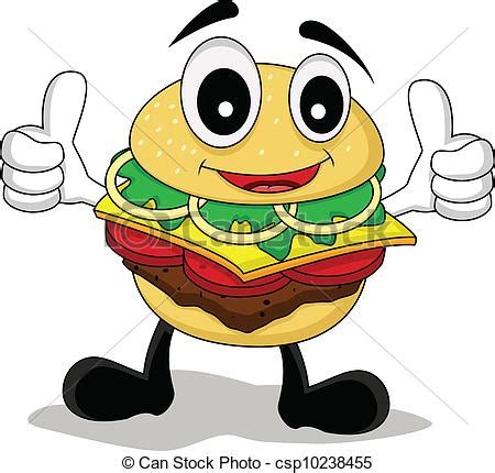 Rhino Artwork by Clipart Vector Of Funny Cartoon Burger Vector