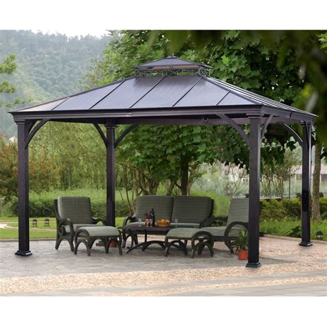 Metal Patio Gazebo Metal Roof Gazebos Pictures Pixelmari