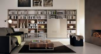 Black midcentury sofa within cool library room ideas coveragehd com