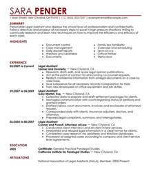 Legal Assistant Job Resume   Resume Cover Letter Template