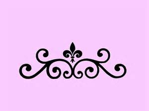 Fleur De Lis Home Decor Wholesale Fleur De Lis Scroll Reusable Stencil 6x2