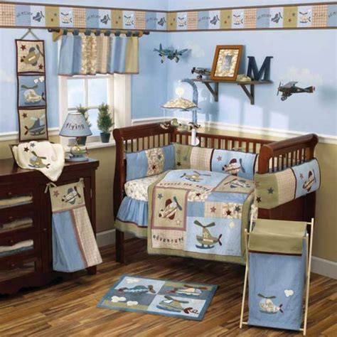 Baby Boy Nursery Decor Ideas Baby Nursery Bedding Sets Themes And Ideas Airplane Baby Boy Bedding Nabuzz Design