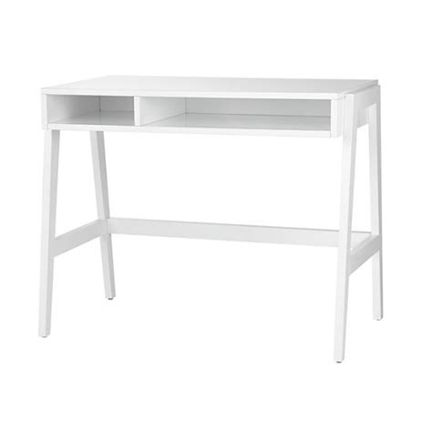 prairie school desk high gloss white the land of nod