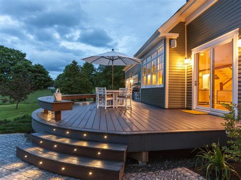 home deck plans deck lighting ideas to get romantic warm and cozy