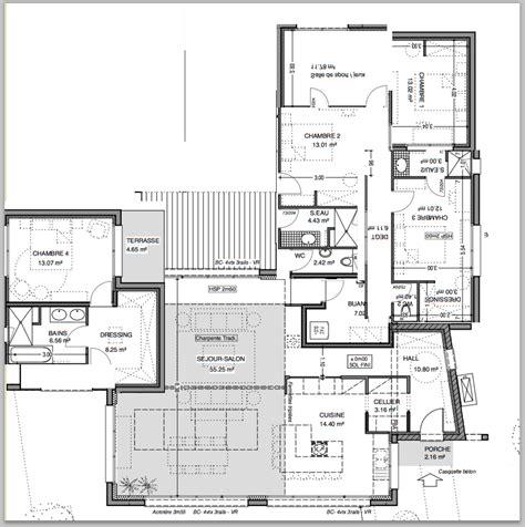 idée maison plain pied 3477 id 195 169 e plan maison de plein pied