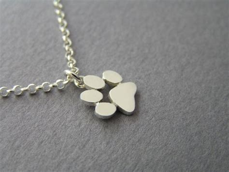 Cat Paw Necklace paw print necklace pendant sterling silver cats and