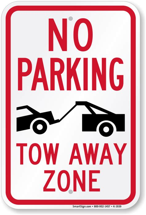 no parking signs template no parking tow away zone sign sku k 1939