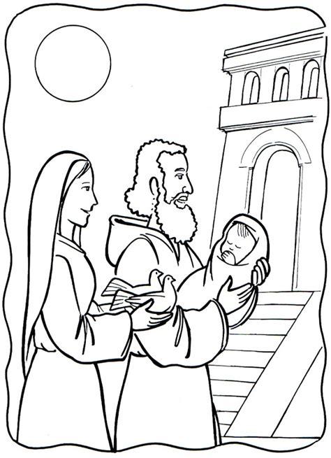 baby jesus presented at the temple coloring pages disegni festa della candelora per asilo mamme magazine