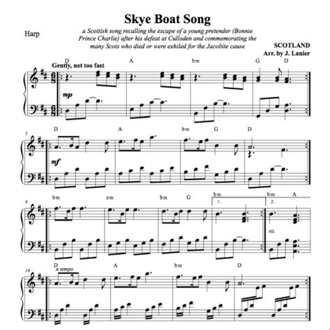 boat song the skye boat song