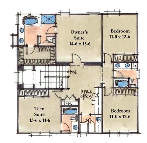 2 Story House Plans With Master On Second Floor by Lifetime Series Homes By Mueller Homes Inc