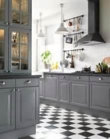 Ikea lidingo grey kitchen another example of grey kitchen with black