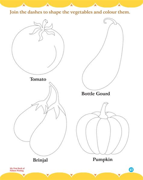 pattern writing worksheets for toddlers free coloring pages of vegetables worksheet