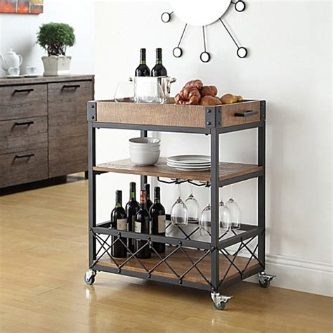 Kitchen Bar Cart by Verona Home Seymour Kitchen Rolling Serving Cart Www