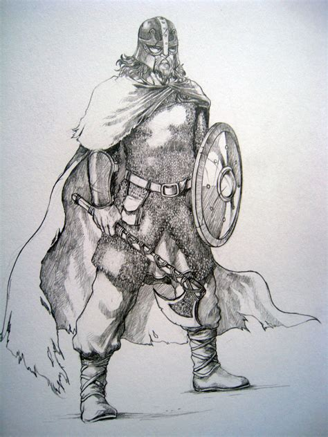 doodle warrior norse warrior by evilapai on deviantart