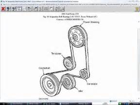 2001 ford focus need belt diagram 2001 ford focus 4 cyl