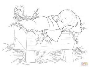 coloring book pages baby jesus baby jesus in a manger coloring page free printable